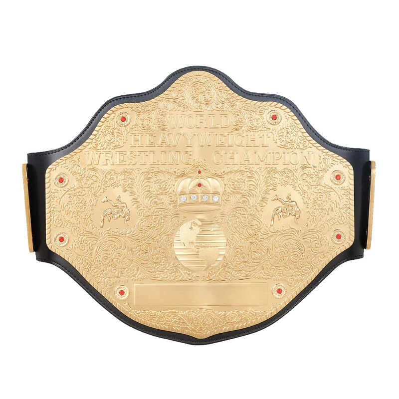 WCW Heavyweight Championship Replica Title Belt with Free Carrying Bag