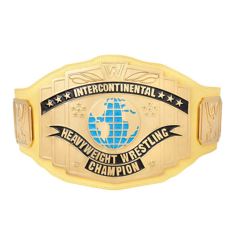 WWE Yellow Intercontinental Championship Replica Title Belt with Free Carrying Bag