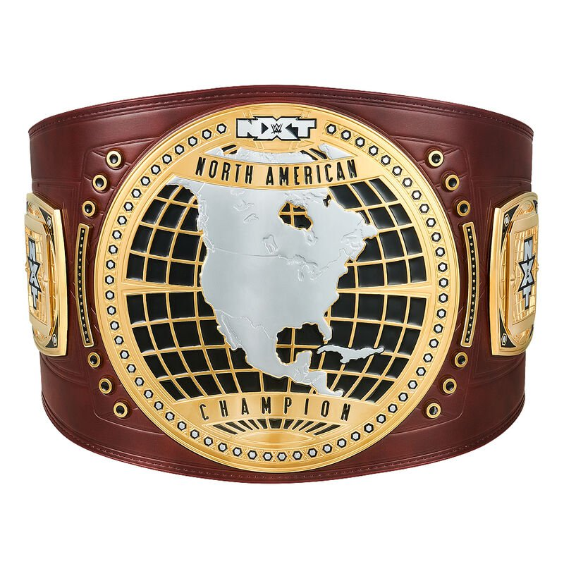 NXT North American Championship Replica Title Belt with Free Carrying Bag