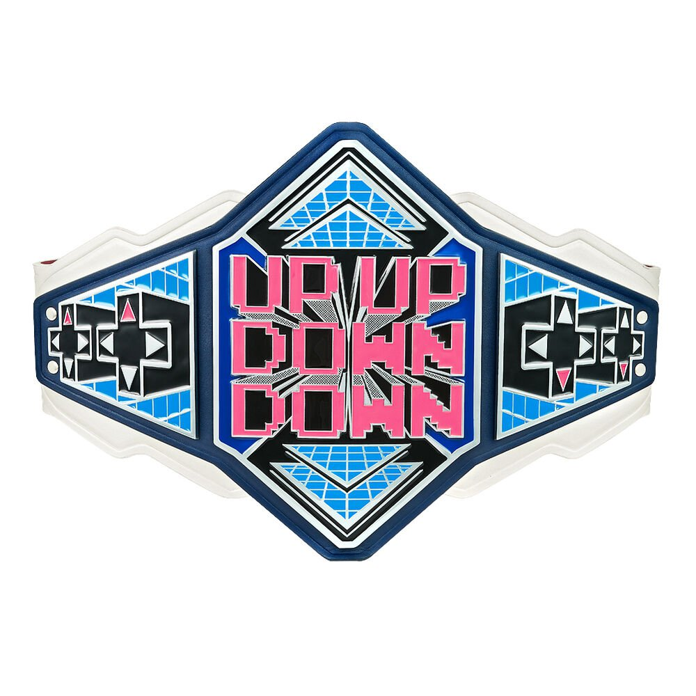 UpUpDownDown Championship Replica Title Belt with Free Carrying Bag