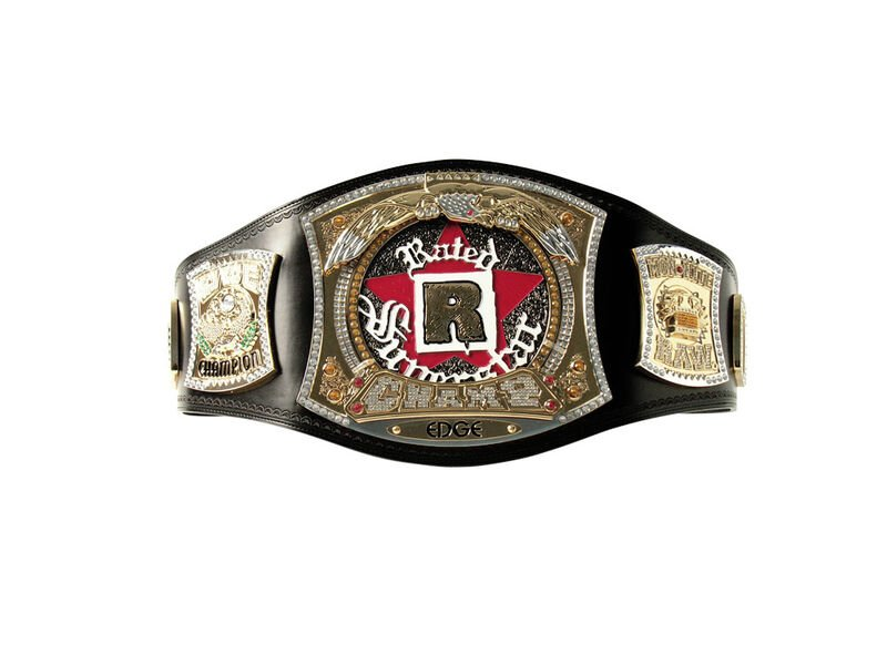 Edge Rated R Spinner Replica WWE Championship Title Belt with Free Carrying Bag
