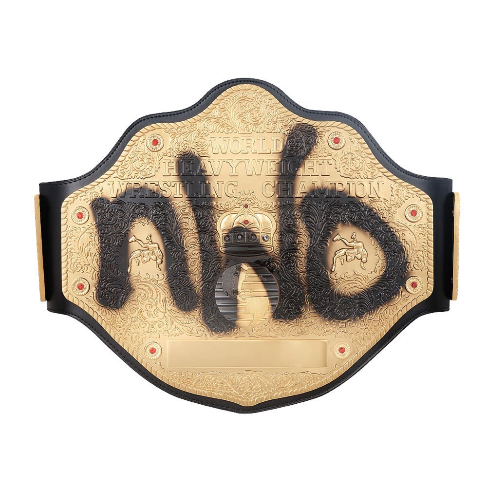 NWO Spraypaint WCW Championship Replica Title Belt with Free Carrying Bag