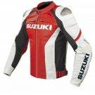 Suzuki GSXR MotoGP Biker Motorcycle Racing Leather Jacket