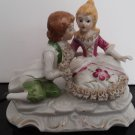 Vintage 1950's -  Geschenk Porcelain Figurine - Eighteenth-Century Couple     (1600)
