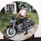"Rare! - Vintage 1990 - Elvis Presley Collectors Plate - ""Elvis On His Harley""       (1587)"