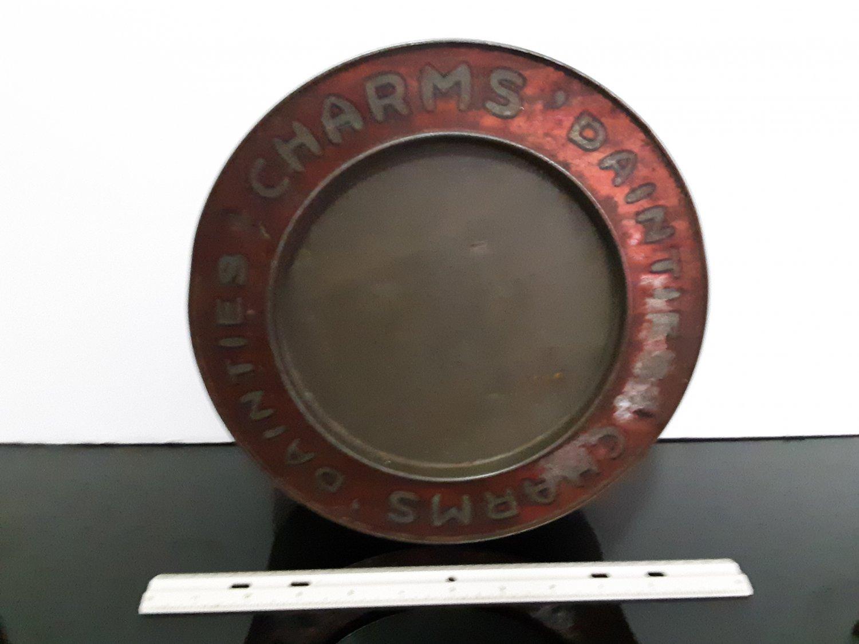 "Vintage 1950's -  ""Charms' Dainties"" Metal Tin          (1568)"