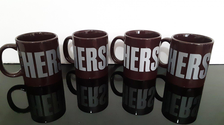 "4 - Hershey's Chocolate  ""Since 1894""  Set of 4 Coffee Mug's                (1524)"