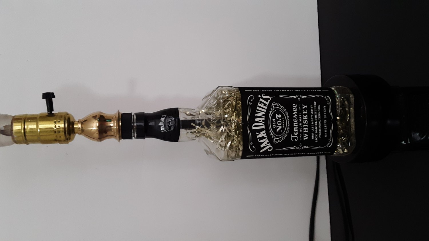 "Vintage - Jack Daniel's Old No.7 Tennessee Whiskey ""Black Label"" Bottle Table Lamp   (1643)"