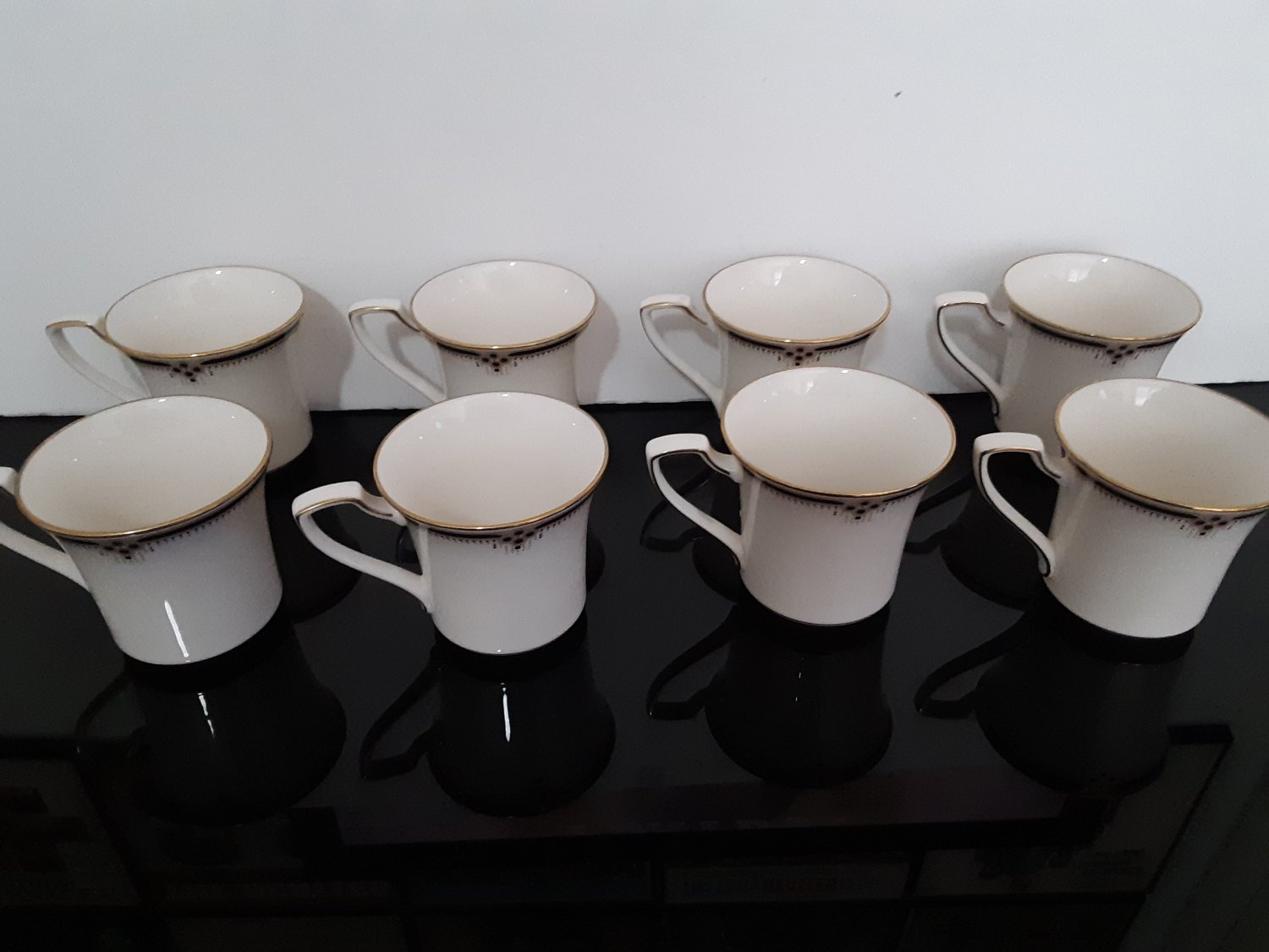 """8- Noritake Fine China - Flat Cup's """"Evening Grown"""" Collection!      (1687)"""