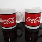 Vintage 1996 - Set of 2 Coca-Cola Coffee Mugs by Gibson     (1700)