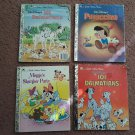 "Vintage ""Little Golden Books - Walt Disney - Lot of 4 Hardcover Books      (1704)"