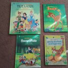 "Set of 4 ""Walt Disney Hardcover Books - Snow White - Bambi - Winnie The Pooh     (1703)"