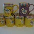 Vintage Hand Painted  - Lot of 6 - Baby Chick Coffee/Milk  Mugs      (280)