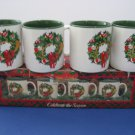 Vintage New Old Stock - Set of 4 - Christmas Coffee Mugs in box     (939)