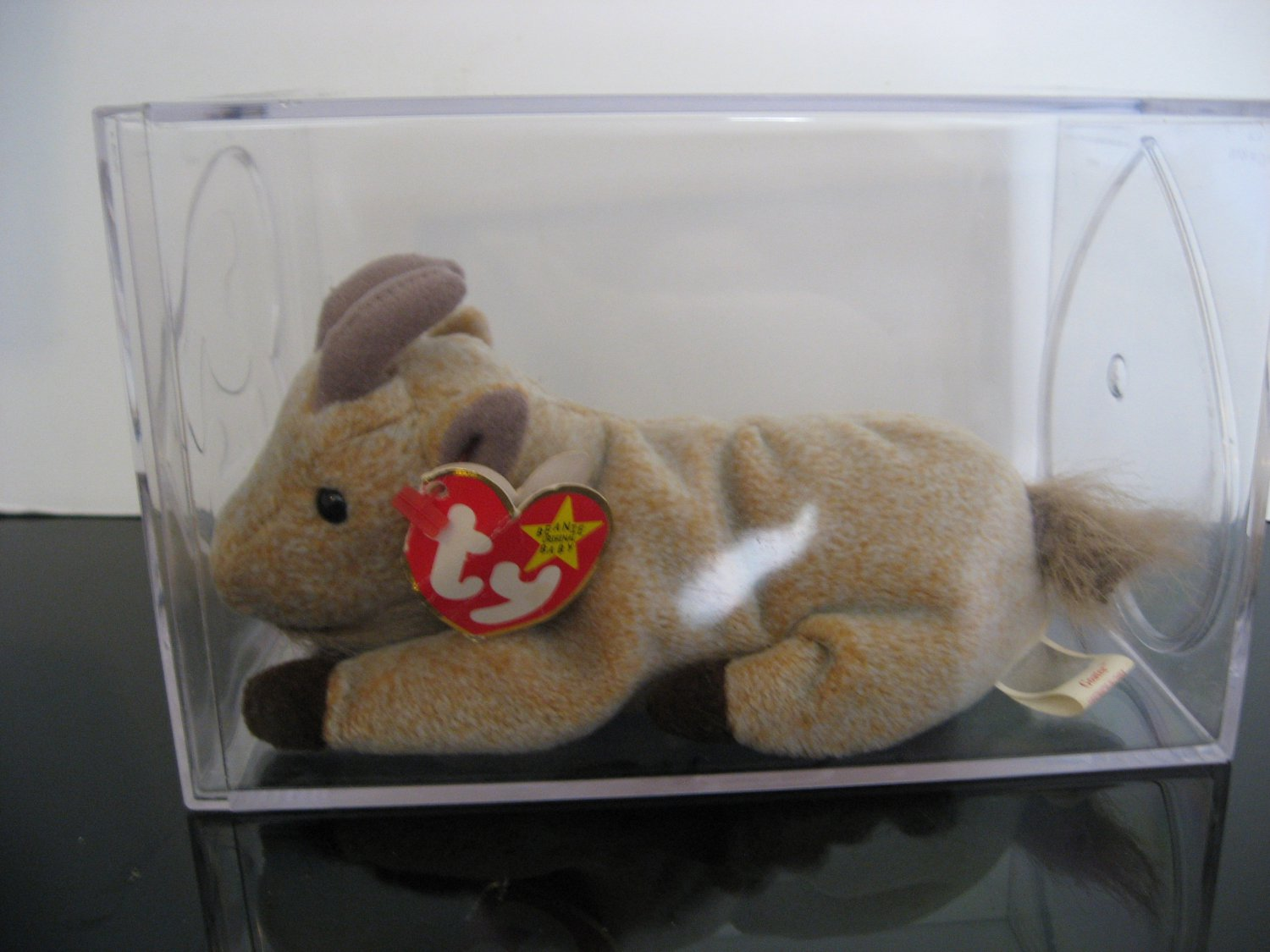 Ty Beanie Baby - Rare Error Issue - Goatee the Goat In case        (298)