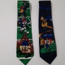 2 Looney Tunes  Football Ties - Bugs Bunny, Daffy Duck & The Tasmanian Devil    (333)