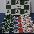 Vintage 1993 - NFL Football -  New York Jets  Vs Miami Dolphins Checker Board Game   (982)