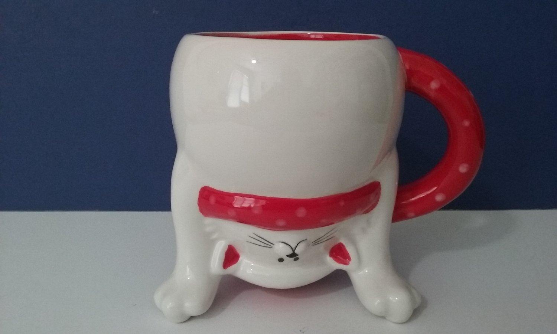Handstand Kitty Christmas Coffee Mug     (1226)