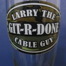 "Larry The Cable Guy ""Git-R-Done"" 2 - 16oz Pilsner Beer Glasses    (1005)"