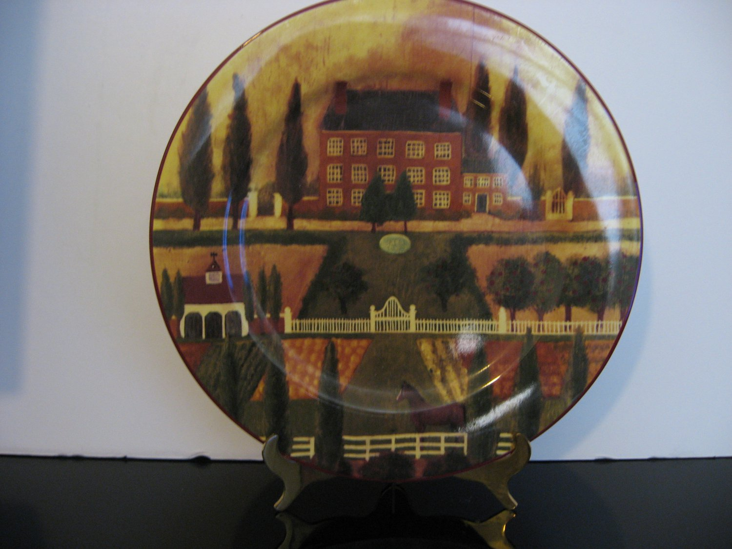 Country Village  Large 12' Decorative Platter by Block 1995 -  346