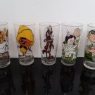 1976 - Pepsi - Looney Tunes - Set of 5 -  Foghorn Leghorn, Speedy, Coyote, Porky, Petunia   (1723)