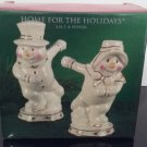 New Old Stock!  Home For The Holidays - Salt & Pepper Shackers!    (1251)