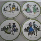 Vintage Hutschenreuther - Set of 4 - German Porcelain Plates    (542)