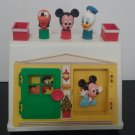 Vintage 1984 - Disney Babies Mickey Mouse Baby Donald & Pluto Activity Play House - By Illco  (1432)