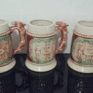 Vintage Yamaka -  Set of 3 - Porcelain Beer Steins with Donkey Handle - Made in Japan   (1446)