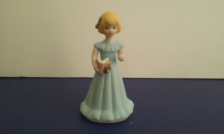 "Vintage 1982 -  ""Age 6"" Enesco ""Growing Up"" -  Birthday Girls - Porcelain Figurine"