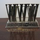 "Vintage Silver Plated ""WWW"" Internet Themed Letter Holder / Paper Weight"