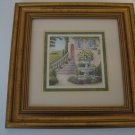 """Wonderful 14 x 14 Matted Gold Trim Picture Framed  - """"Courtyards"""" - A Kathy Seek Design"""