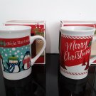 NEW Old Stock - 2 Royal Norfolk Holiday Mugs - Merry Christmas & Deck The Halls