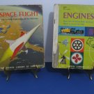 "Vintage 1959 - 2 - Golden Library Of Knowledge Books  - ""Space Flight"" and ""Engines"""