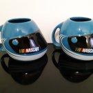 2 - Blue Nascar Helmet Mugs