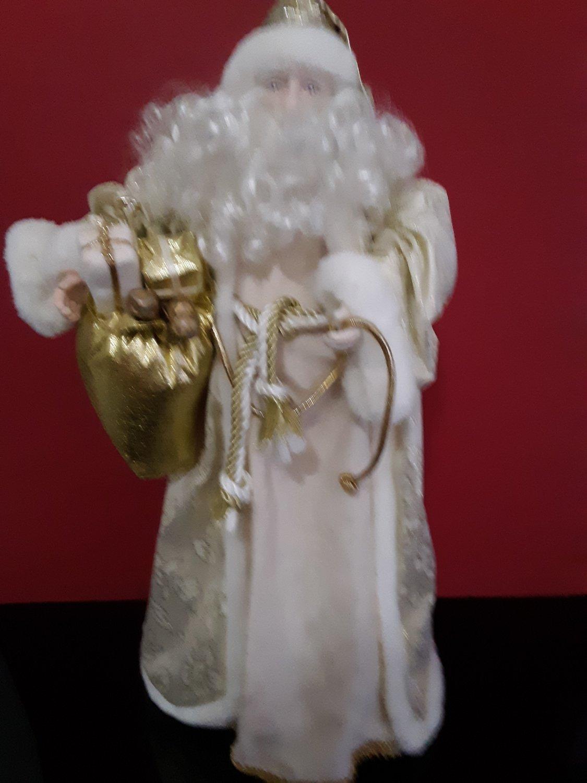 19' Gold Santa Claus Tree Topper
