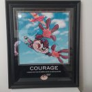 "1998 Looney Tunes - Tasmanian Devil ""Courage"" Inspirational Picture Framed!"