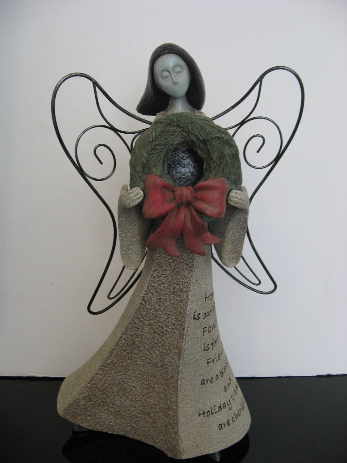 "Vintage Artstone 15' ""Holiday"" Angel"