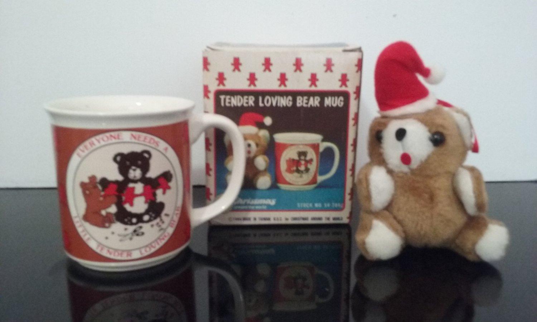 1986 Christmas Around The World - Tender Loving Bear Mug