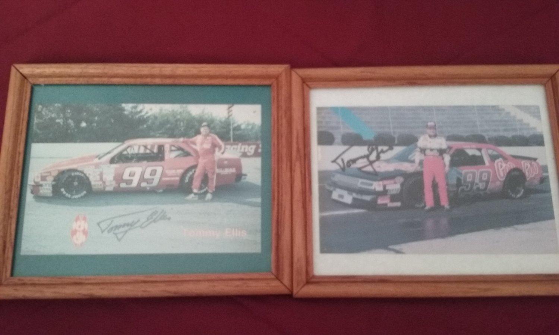 "1980's Nascar Driver ""Tommy Ellis"" -  2 Autographed Framed Pictures 11x9"