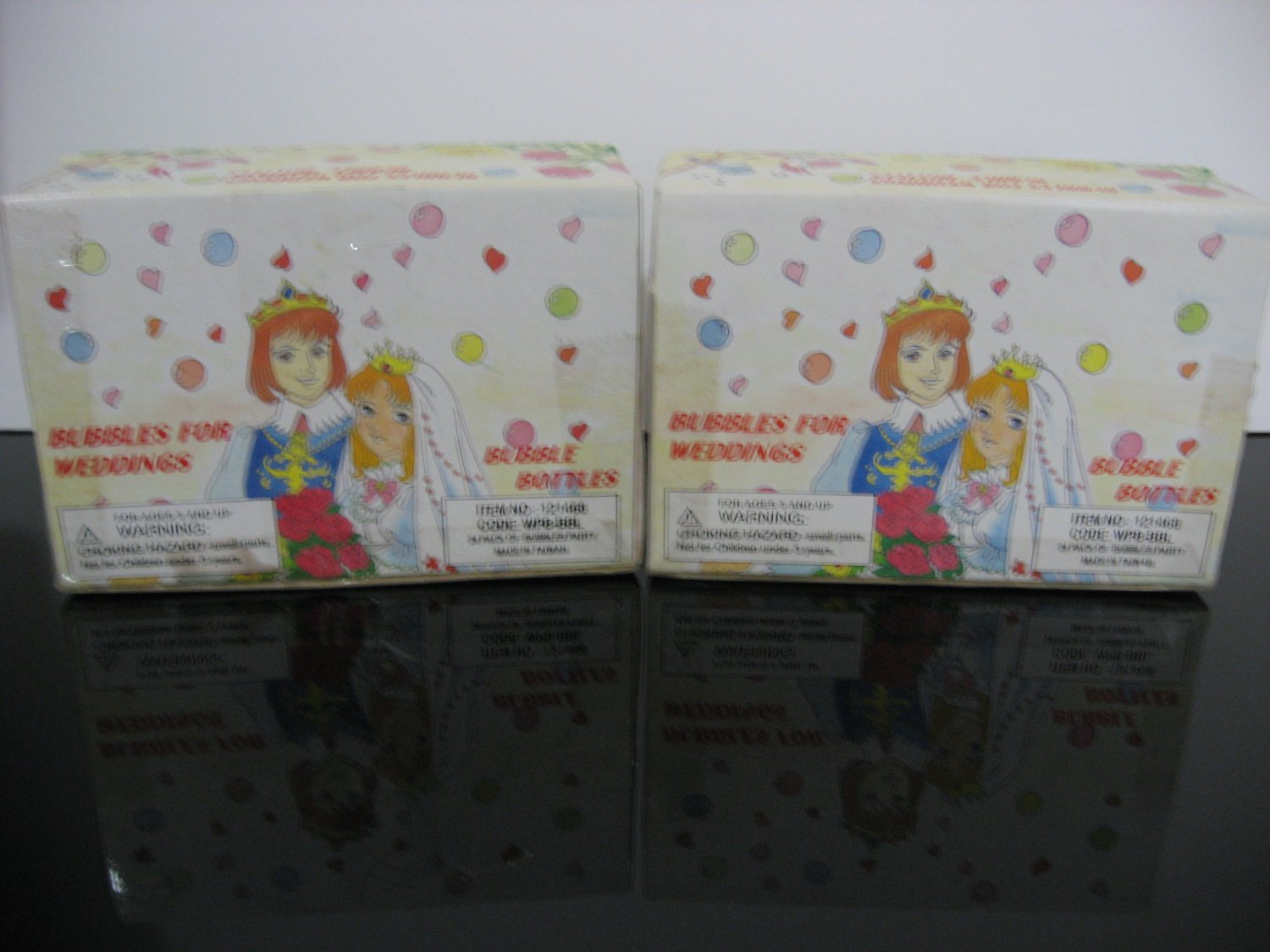 Bubble Bottles - 2 Boxes -  Retro Anime Manga Wedding Couple