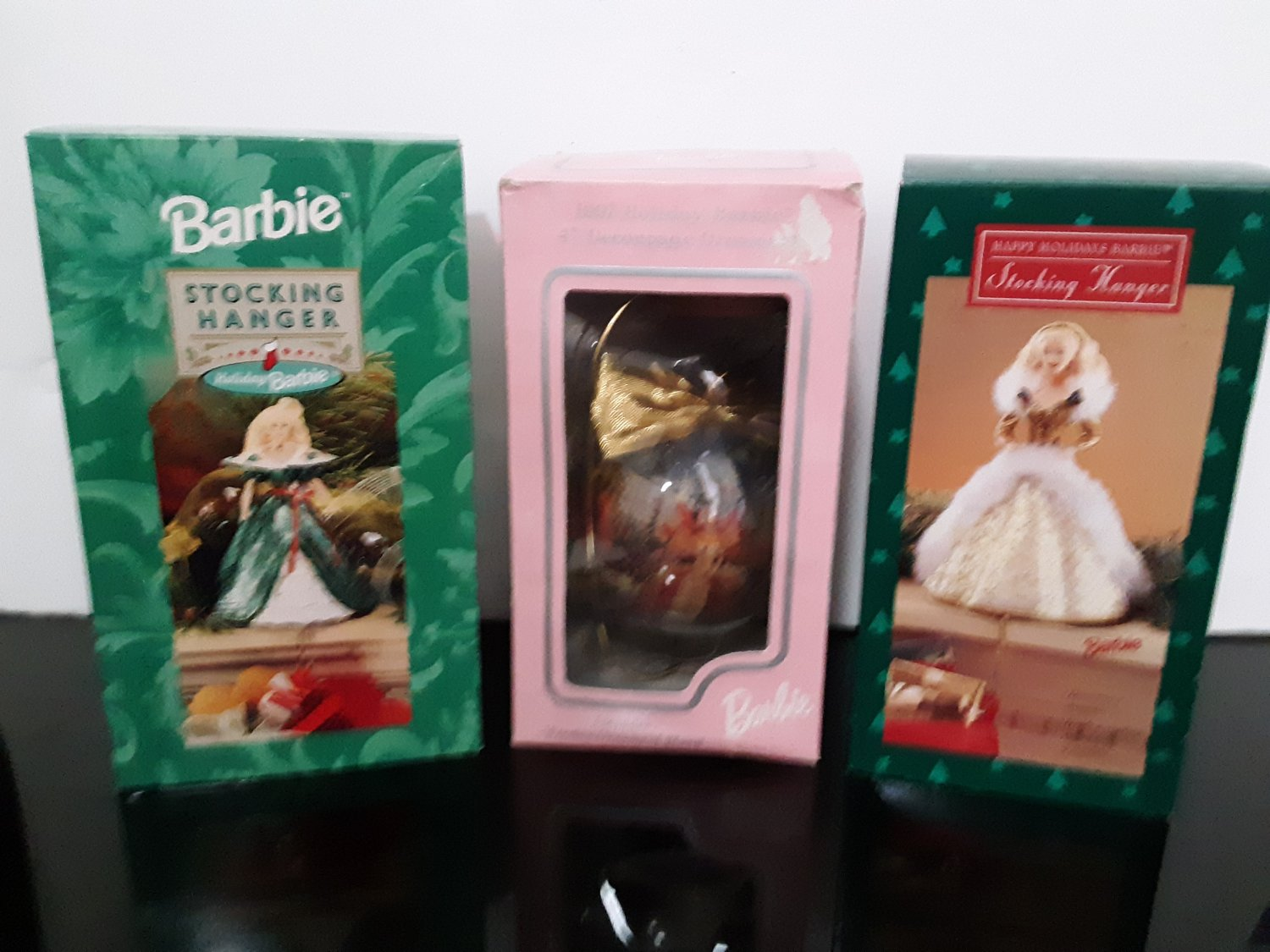 New Old Stock - 3 - Holiday Barbie - Christmas Ornament - Stocking Hangers