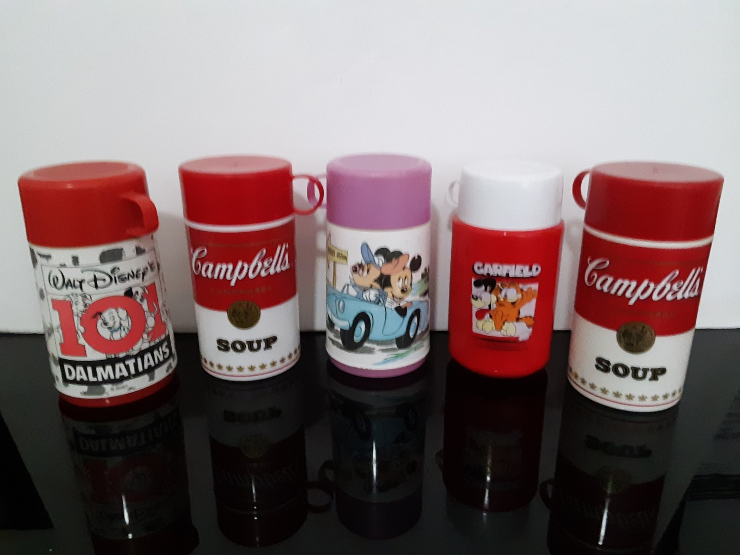5 - Vintage  Thermos - Walt Disney - Campbell Soup - Garfield