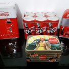 Set of 4 - 1950's  Series - Coca Cola Vending Machine & 6 Pack Tin's