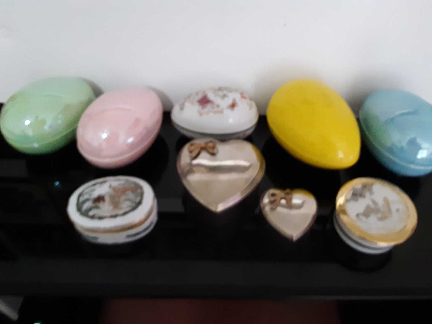9 - Trinket Boxes - Musical - Hearts - Eggs