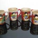 4 - Vintage Holiday Coffee Mugs