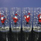 Set of 4 Tumblers - Christmas Santa Mix Drink Glasses