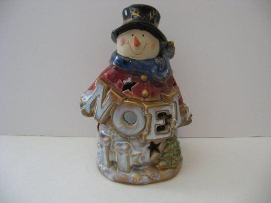 "8' Snowman ""Noel"" Tealight Candle Holder"