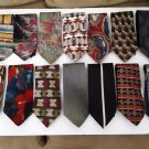 Super Tie Bundle!  14 Ties Plus Tie Rack - DKNY-Tommy Hilfiger-Jerry Garcia - Joseph Abboud