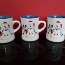 3 - Mickey Mouse & Snowman / Snowflakes Mugs